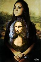 monalisa bodypainting with BG by faithfulartist