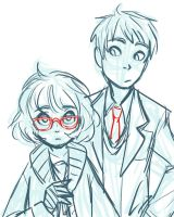 Kyoukai No Kanata Scribble 1 by mossmallow