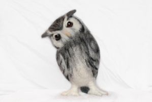 Needle felted Scop Owl by Yvonnesworkshop