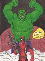 Hulk and Deadpool by Crash2014
