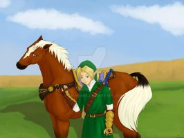 Link and Epona- Colored by a-ka-neArt
