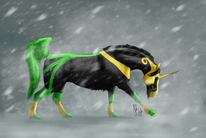 Loki in a storm by WinnyDaPoo