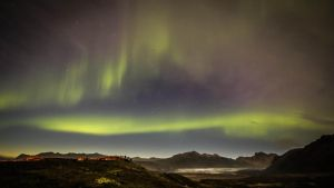 Northern Lights, Skaftafell by cwaddell