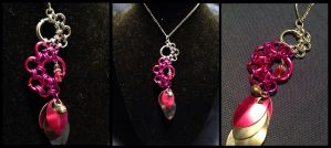 Fading Magenta Octopus Necklace by NikidaEve