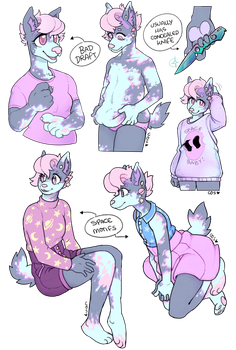 Pudgy Pastel Purple Planetary Pup by fursony