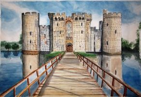 Castle Watercolor by laylessza