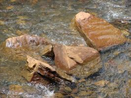Rock in the river by fairling-stock