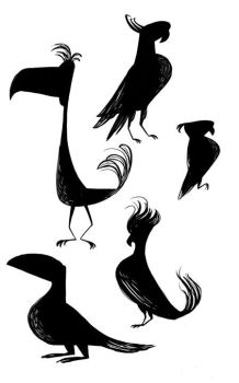 More Bird Silhouettes by FreakyPicasso