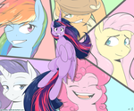 Friendship is magic WALLPAPER by dividedby-ZER0