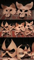Wip Masks - Wolves and Heroes by nondecaf
