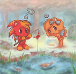 Summer Fishing - ChaoMish by kawaii-kitsune