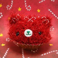 Candy Cane Cupcake Bear by amigurumikingdom