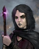 Dark Magical Girl by SirTiefling