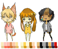 [CLOSED] Adoptables Set 4 by peepeechu
