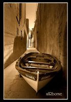 Boat Lying - Mdina Malta II by airbornemail