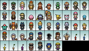 Super Smash Bros. Brawl Sprites by IceJkai
