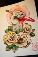 hand and roses by wargland