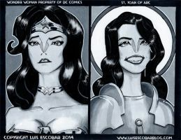 Wonder Woman and St. Joan of Arc by LuisEscobar