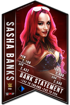 Sasha Banks WWE 2K17 SuperCard by JeriKane