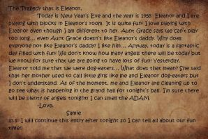Written Entry 4 (The Tragedy that is Eleanor) by thenumba1spaz