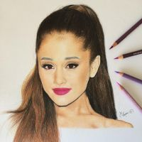 Color drawing pencil .. ' Ariana Grande ' by ErenLACIN