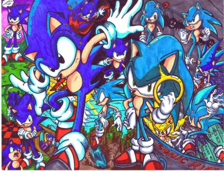 sonic allstar colored by trunks24