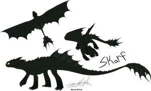 Skarf Reference Sheet. by Jolts-of-Blue