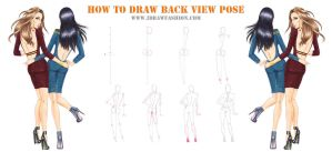 How-to-draw-rare-view-pose-for-fashion-design- by idrawfashion