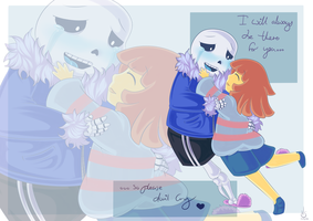 Art Trade - Sans X Frisk by Valorie-Sonsaku