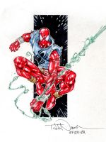 Scarlet Spider marker sketch by ToddNauck