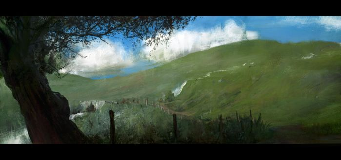Hills sketch by leventep