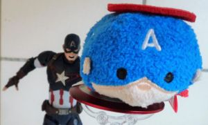 SH Figuarts and Tsum Tsum Captain America by ChristianPrime1-Bot