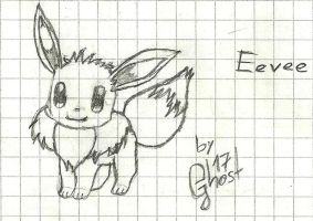 Eevee en lapiz by 17GhosT