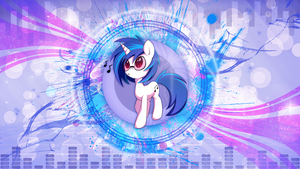 Vinyl Scratch wallpaper v2 by skrayp