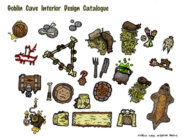 Goblin Cave Interior Design Catalogue by DarthAsparagus
