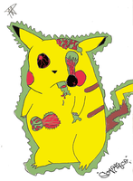 Zombie Pikachu Collab by AquaNature10