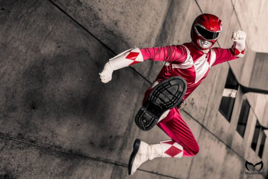 MMPR Red Ranger: In Your Face! by effektdmentality