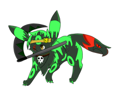 Art Trade: DeathSoul the Umbreon by F0GBOUND