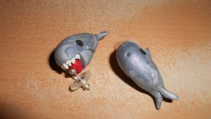 wale polymer clay by MiniSweetx