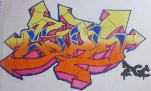 Old graffiti drawing by Cypher-Black