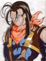 Super Android 17 Remastered by Shadow-Ishimori-Clan