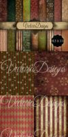 Grunge Christmas Papers by VectoriaDesigns