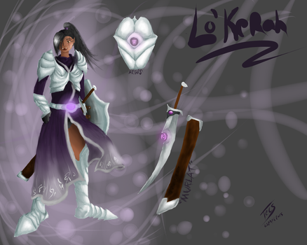 Character Reference Sheet: Lo'Kerah by xXTecsXx