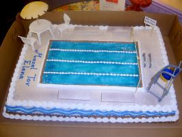 Swimming pool cake by The-EvIl-Plankton