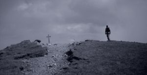 Man and a cross by osiriss