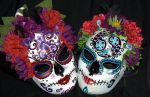 Custom Belly Dancer's Sugar Skull Masks 4 and 5 by LilBittyFish