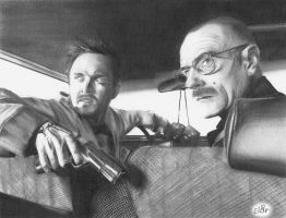 Jesse Pinkman and Walter White by slan-12