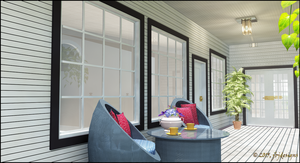 Country Cottage, Front Porch by jbjdesigns