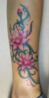 water lilly tattood by primitive-art