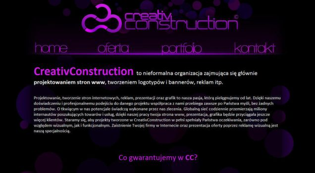 CreativConstuction WebPage by IMdotMS